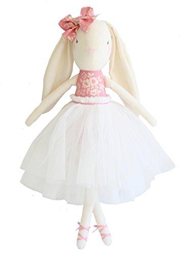 Alimrose Bronte Ballet Bunny, Pink Ivory, 19