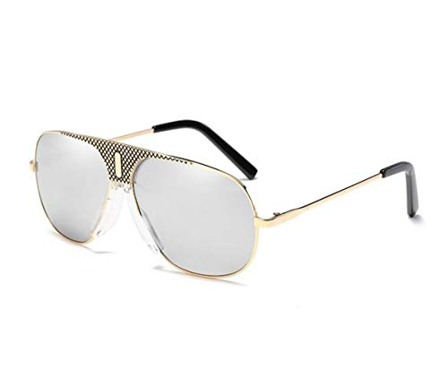para los sol de protección de la Guay para mujeres de pesca hombres UV400 conducir Golden Huyizhi retros Gafas de de las sol Gafas viajar 4TxfAwq