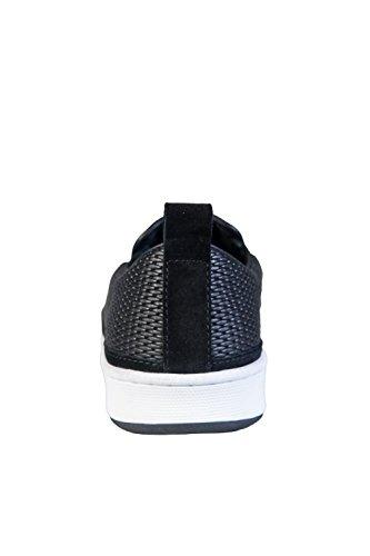 Armani Jeans - Zapatillas de Piel para hombre negro negro negro