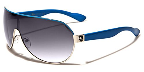 Men's Flat Top Sport Shied Aviator Sunglasses - Multiple - 80s Sunglasses Ski