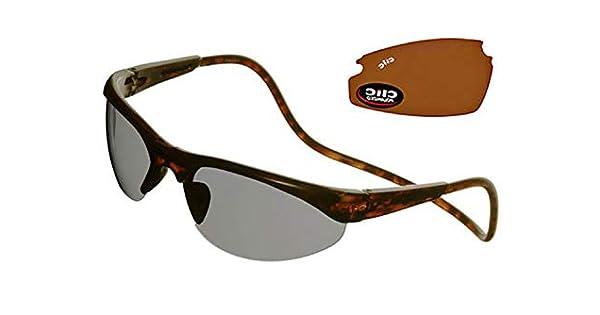 Amazon.com: Clic anteojos de sol diseño de tortuga clic ...