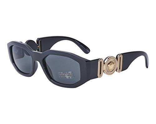 Versace Unisex Sunglasses, Black Lenses Injected Frame, 53mm (Ovale Gläser)