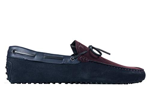 Tod's Men's Navy Color Block Suede Self-Tie Driver Loafers UK6.5/US7.5~RTL$745