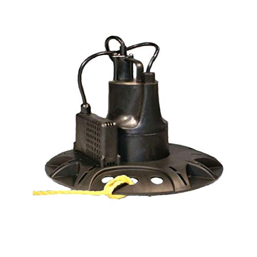 RidgeMax 1/6 HP Pool Cover Pump | Automatic ON/Off Water Removal | Black
