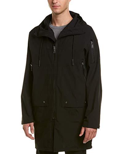 Karl Lagerfeld Mens Oversized Coat, L, Black