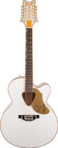 Body Vintage Acoustic Guitar - Gretsch G5022CWFE-12 Rancher Falcon White 12-String Acoustic-Electric Guitar