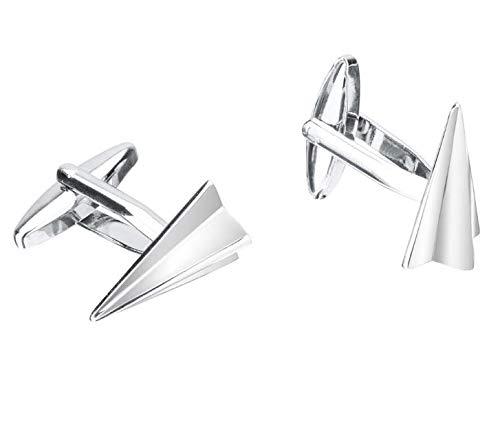 PANGUN Nuevo Metal De Alto Grado Plata Papel Aviones Forma ...