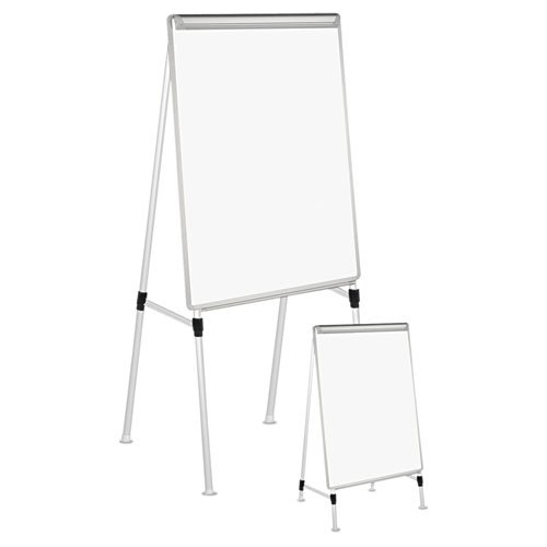 White//Silver Universal 43033 Adjustable White Board Easel 29 x 41