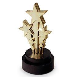 Award Trophy - Shooting Star 4 Inch (Award Trophy Star Shooting)