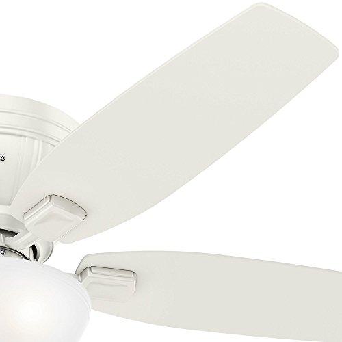 Hunter 53378 Kenbridge 52'' Ceiling Fan with Light, Large, Fresh White by Hunter Fan Company (Image #5)