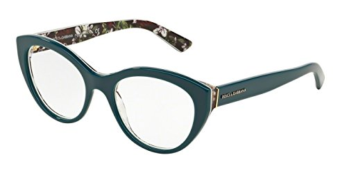 Dolce&Gabbana DG3246 Eyeglass Frames 3022-53 - Top Petroleum/rose - For Men And Dolce Glasses Gabbana