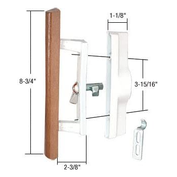 Sliding Glass Patio Door Handle Set With Internal Lock For