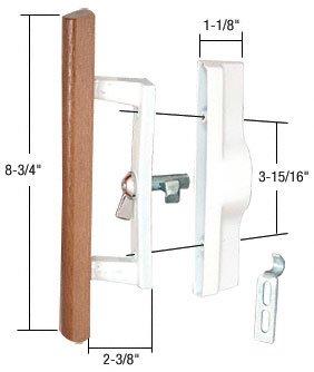 Sliding Glass Patio Door Handle Set With Internal Lock For Viking Doors,  3 15