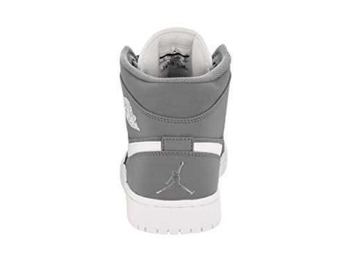 Nike Menns Air Jordan En Mid Basketball Sko Kul / Grå / Hvit / Hvit