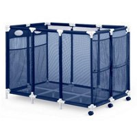 Modern Blue Pool Storage Bin - XX-Large | Perfect Contemporary Nylon Mesh Basket Organizer For Your Goggles, Beach Balls, Floats, Swim Toys & Accessories | Air Dry Items Quickly & (Pool Float Storage)