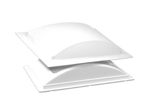 BriRus K1422WLP White Low Profile Single Pane Exterior Skylight Kit Low Profile Flange Kit