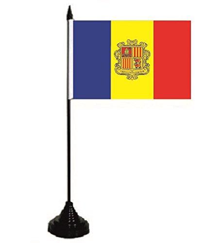U24 mesa bandera Andorra con escudo Bandera Bandera mesa 10 x 15 ...