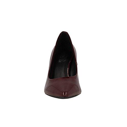 Zapatos D Geox de Tacón C Rojo Mujer para Faviola C7005 Bordeaux t4qqdw1