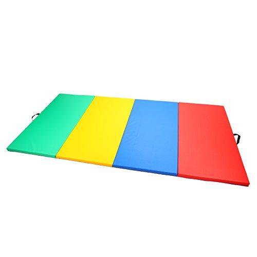 Magshion Tumbling Gym Folding Exercise Mat Gymnastics Aerobics 4'x10'x2'' Mixed Color by Magshion Furniture
