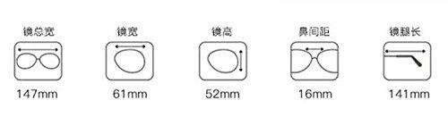 espejo sin gafas femenino gun de anti de la ola grande azul de número radiación macho gafas equipo colour de KOMNY plano marco Black espejo versión Luz coreana bastidor coreana de qvxHFwqAB