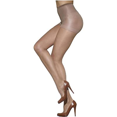 Silkies Women's Control Top Pantyhose with Light Support Legs: Clothing