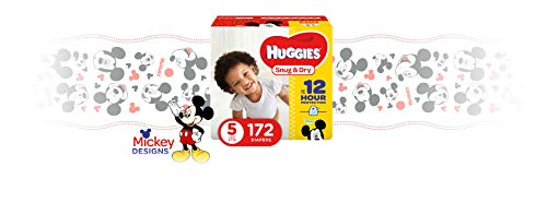 Large Product Image of HUGGIES Snug & Dry Diapers, Size 5, 172 Count, ECONOMY PLUS (Packaging May Vary)