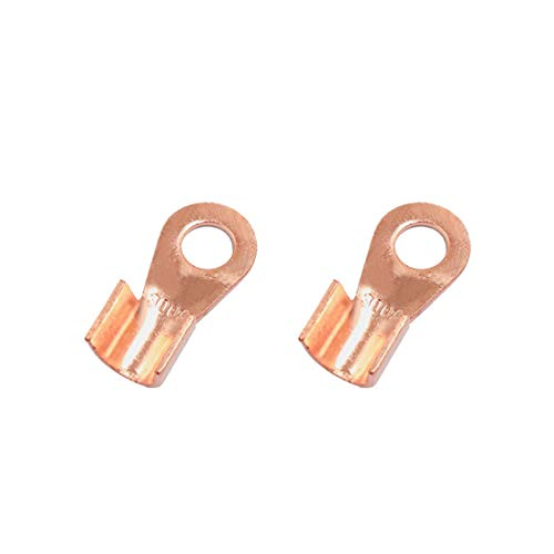 Sourcingmap 2pcs 300A Copper Ring Terminals Lug Battery Cable Connector: