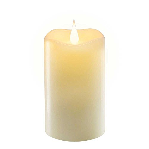 5Inch Flameless Led Tea Light ,Long Lasting Battery Operated Pillar Candles for Home/Party/Halloween/Christmas/Wedding Decor - Perfect Gift (Halloween Ideas)