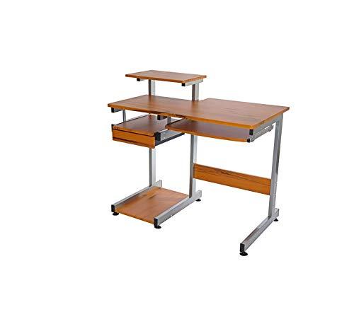 Cd L-shaped Storage Desk - Office Home Furniture Premium Computer Workstation Desk. Color: Woodgrain