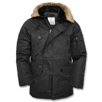 Coated Twill Jacket (Mil-Tec N3B Flight Jacket Black size XXL)