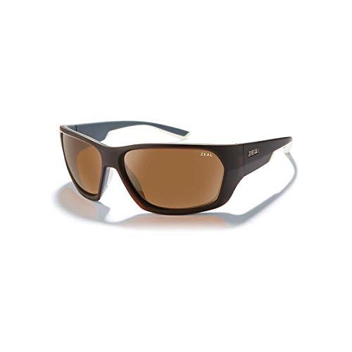 (Zeal Optics Unisex Caddis Matte Brown Khaki W/Polarized Copper Lens One Size )