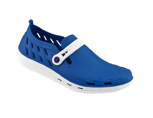 Nexo - Calzado de uso profesional WOCK - Antideslizante; Talón cerrado; Esterilizable; Absorción de impactos; Respirable Blanco/Azul