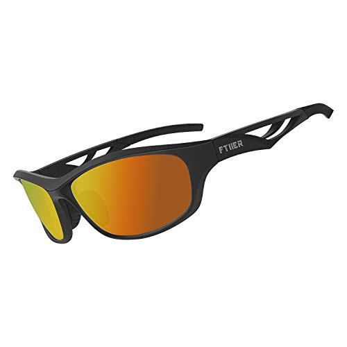 Ftiier Polarized Sports Sunglasses Driving Glasses Shades for Men Women Baseball Cycling Fishing Golf TR90 Unbreakable ()