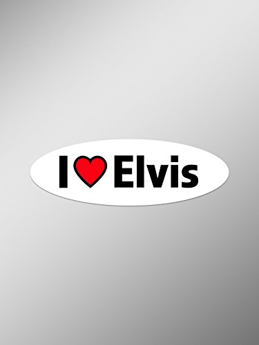 PD118 2-Pack I Love Elvis Decal Sticker | 5.5-Inches By 1.75-Inches Premium Quality Vinyl Decal (Jailhouse Jumpsuit Costumes)
