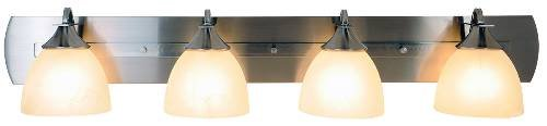 Volume Lighting V4844-33 Durango Vanity Fixture, Maximum Four 100 Watt Incandescent Medium Base Bulbs, 43
