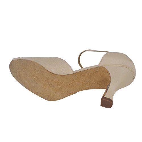 Para Color Misu Skin Mujer Zapatillas Danza De qwxA6pP