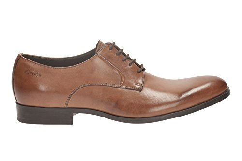 Clarks da uomo Smart Banfield Walk Pelle di scarpe marrone chiaro