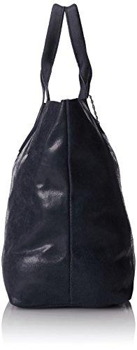 Fabriqué Blu 39x36x20cm Sac Italie poignées pour cuir avec femmes véritable Bleu MC 100 semi en brillant à bandoulière wTCwqOF
