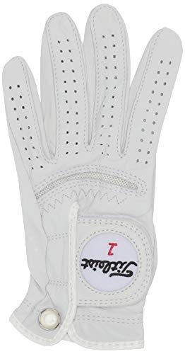 Titleist Perma Soft Golf Glove Womens Reg LH Pearl, White(Small, Worn on Left Hand)