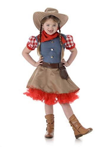 Girl's Rodeo Cowgirl Costume for Halloween Costume Party Accessory, -