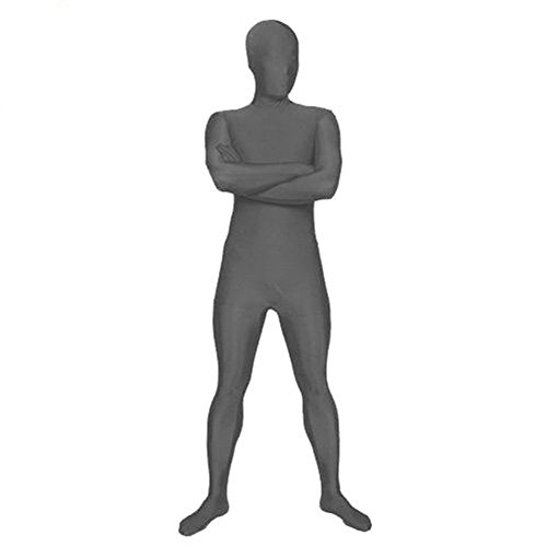 [Muka Lycra Zentai Supersuit Halloween Costume 2nd Skin Full BodySuit Dancewear - Gray,XXL] (Morph Suit Costumes Ideas)