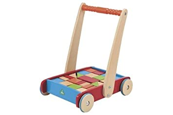 Elc Wooden Toddle Truck And Bricks Baby Walker Age 12 Months