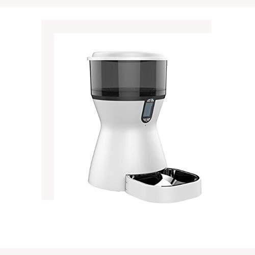ZZQ Pet Dog Timing Alimentador automático para Cat Dog Pet Dry Food Dispenser Dish Bowl Dog Cat Feeder Bowl Fácil/Conveniente