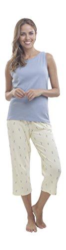 jijamas Incredibly Soft Pima Cotton Women's Pajamas Set - Capri 'The Island Dream' - Pima Cotton Pajamas