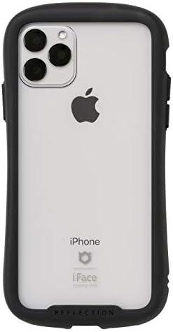 iFace Reflection iPhone 11 Pro Max ケース クリア 強化ガラス [ブラック]