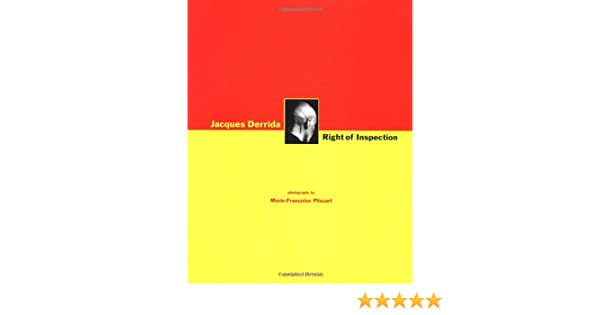 DERRIDA RIGHT OF INSPECTION EPUB
