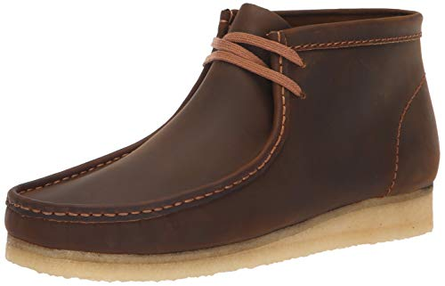 CLARKS Men's Wallabee Boot Fashion, Beeswax, 90 M US