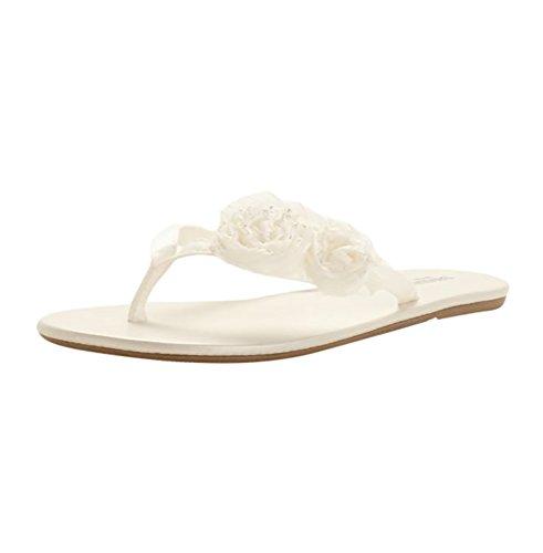 Zoey Flip Flop Style ZOEYI, Ivory, (New Slipper Sandal Flip Flop)