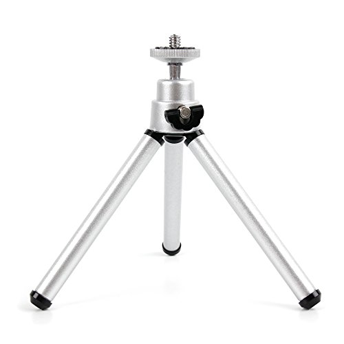 DURAGADGET Ultra-Portable, Lightweight Aluminium Tripod with Sturdy, Collapsible Legs Compatible with The PowerLead Pcam PDC001 2.7 inch TFT LCD HD Mini Digital Camera
