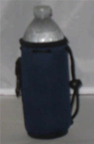 Water Bottle cooler 2 Pack with Drawstring & Clip, Navy